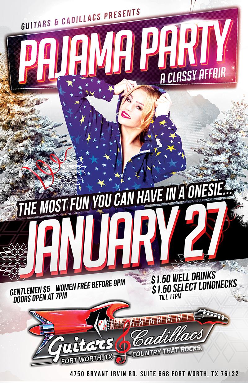 Pajama Party January 27th